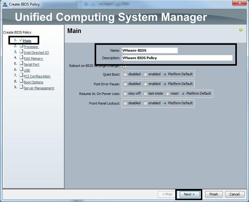 Cisco UCS Configuration Guide for vSphere – Part 5 – Server