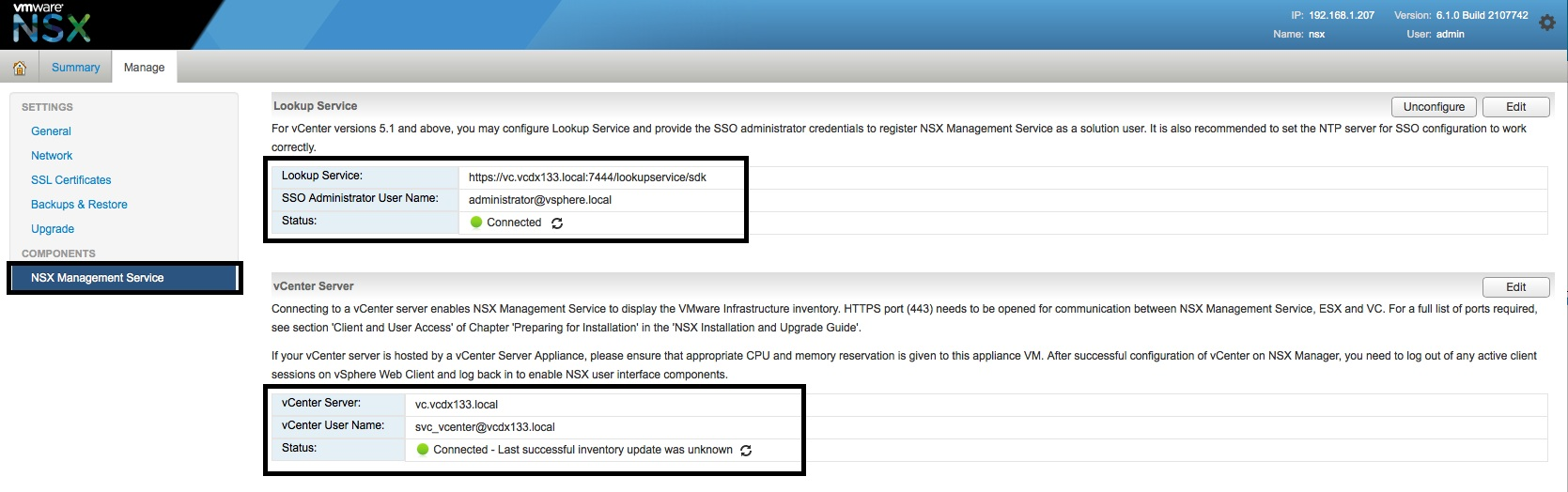 NSX Manager – Part 3 – Configure – vcdx133 com