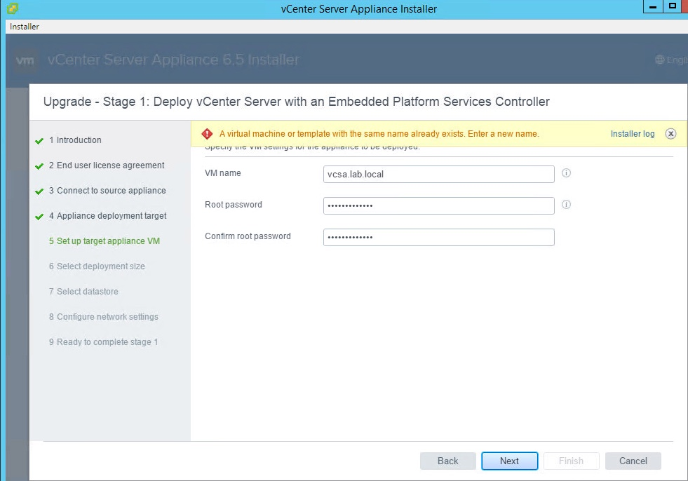 vSphere 65 Basics Part 5 Upgrade vCSA 60 to vCSA 65 – End User License Agreement Template