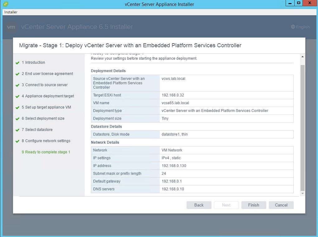vsphere 6 5 basics part 4 migrate vcenter server 6 0 on windows to vcsa 6 5 vcdx133 com migrate vcenter server 6 0 on windows